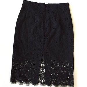 Eva Mendes Black Lace Skirt Size L